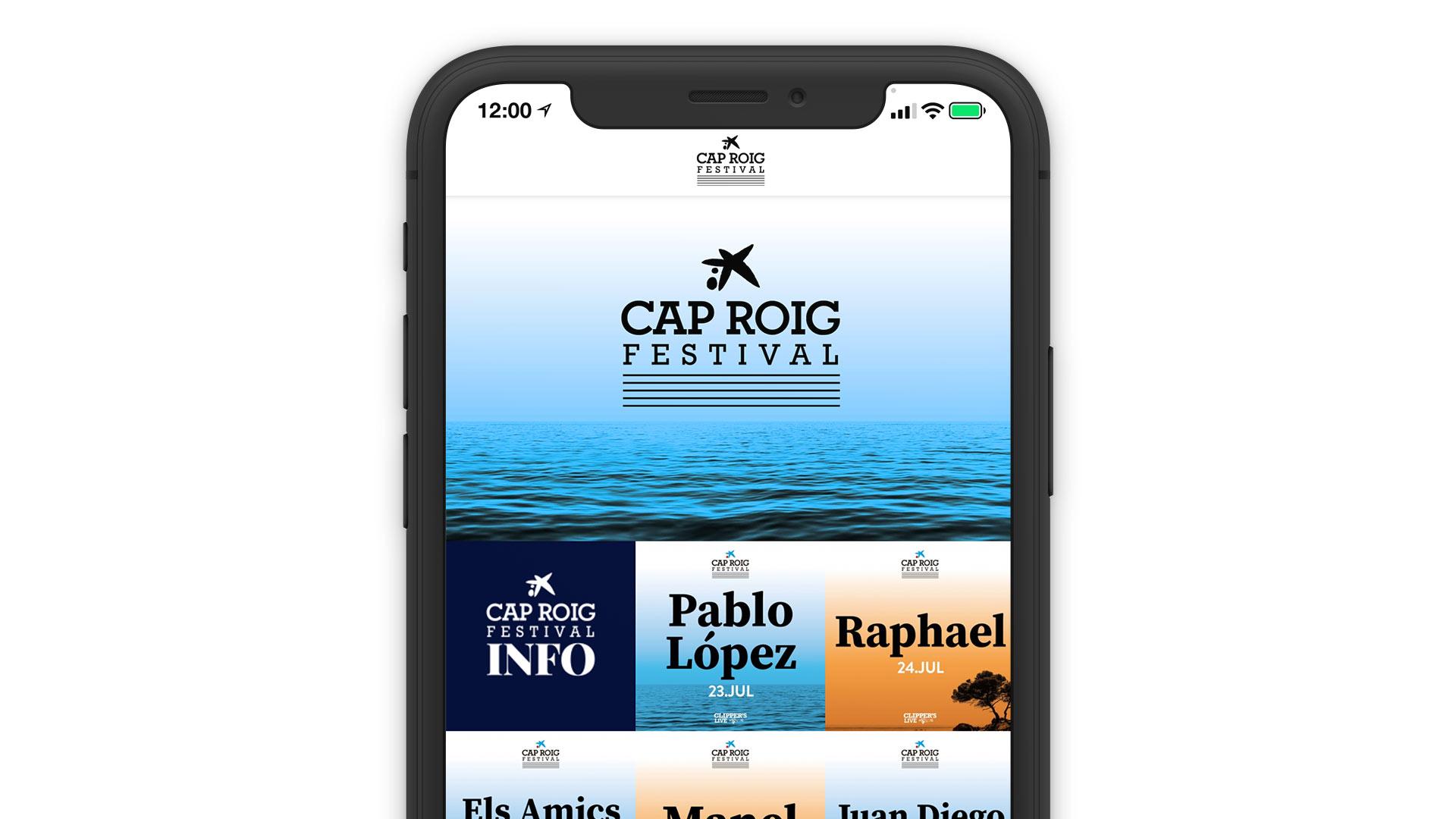 Cap Roig Festival Direct Booking System Reservation Solution Mobile App Online Laptop