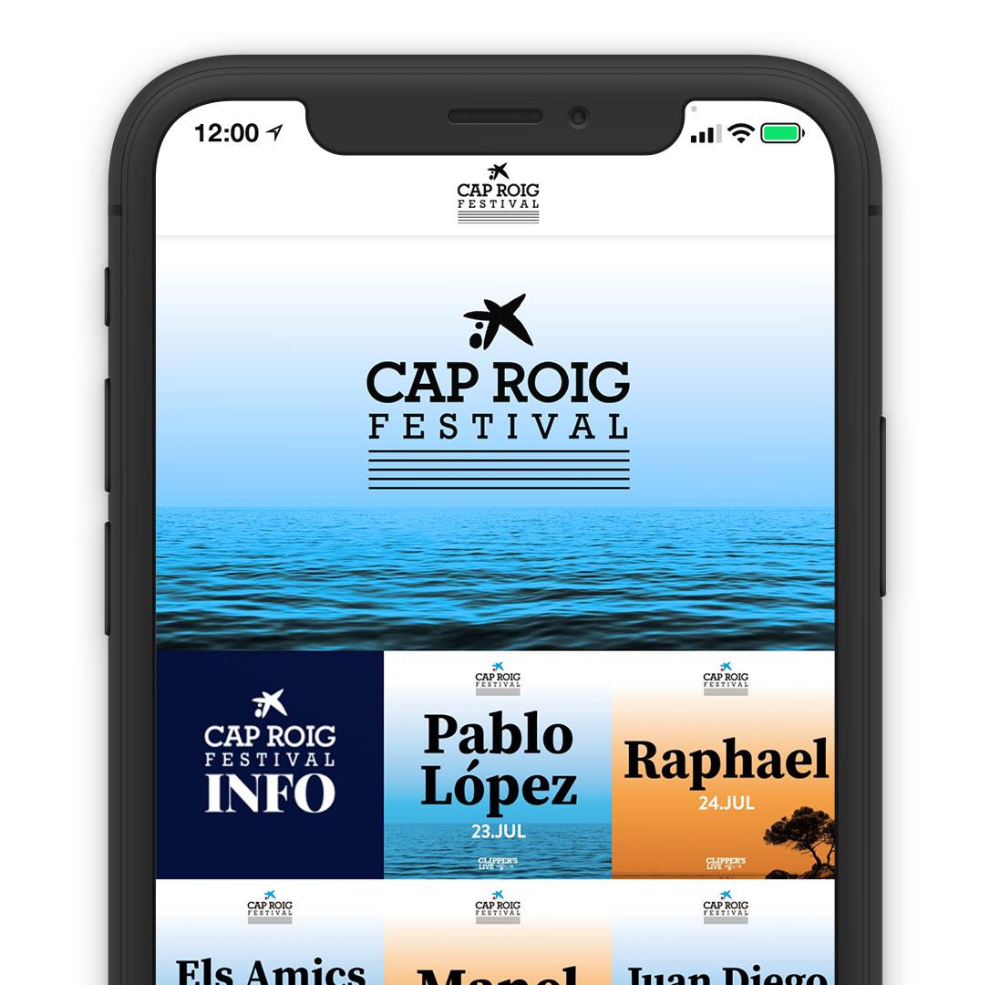 Cap Roig Festival Direct Booking System Reservation Solution Mobile App Online Smartphone
