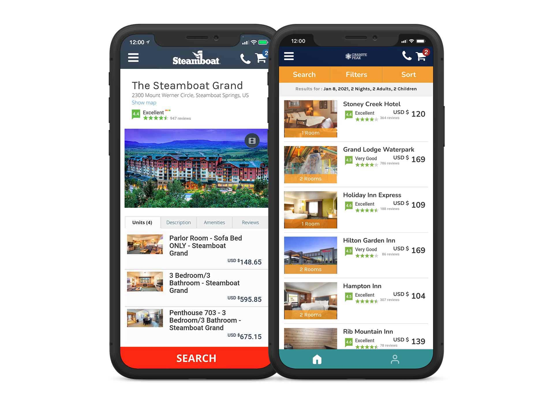 Direct Booking Online Booking Reservation System Solution Mobile App 1