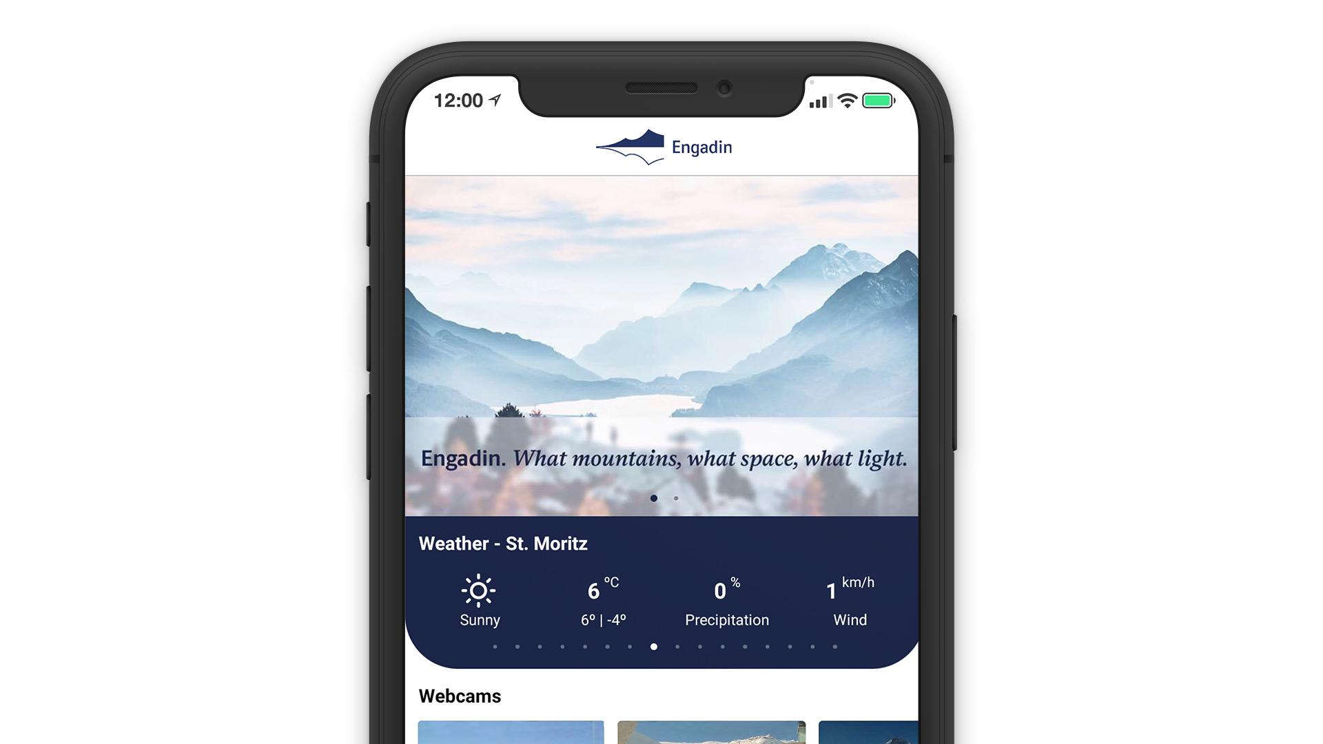Engadin Mobile App Online Direct Booking System Reservation Solution Smartphone Laptop