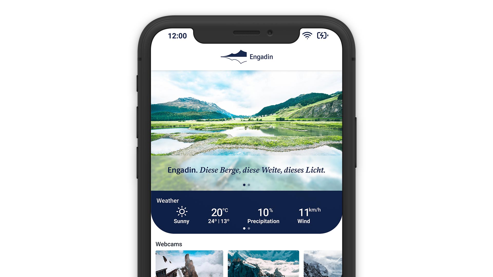 Engadin Mobile App Online Direct Booking System Reservation Solution Smartphone Laptop