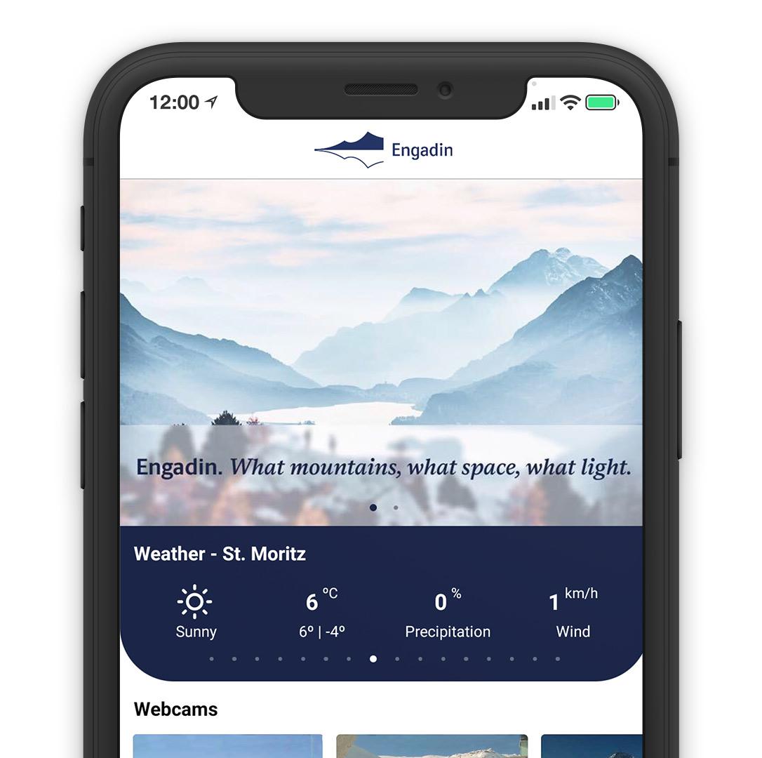 Engadin Mobile App Online Direct Booking System Reservation Solution Smartphone Laptop Smartphone