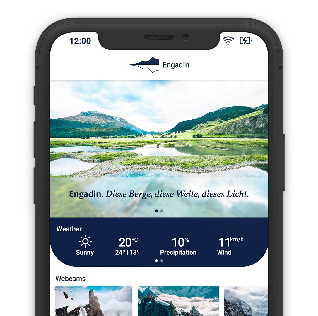 Engadin Mobile App Online Direct Booking System Reservation Solution Smartphone Laptop Smartphone