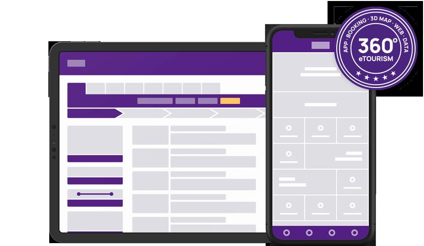 Header Mockup App Booking System Reservation Solution 3d Map Mobile