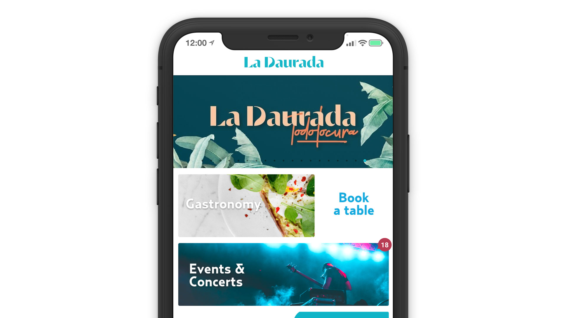 La Daurada Beach Club System Reservation Solution Mobile App Online Direct Booking Laptop