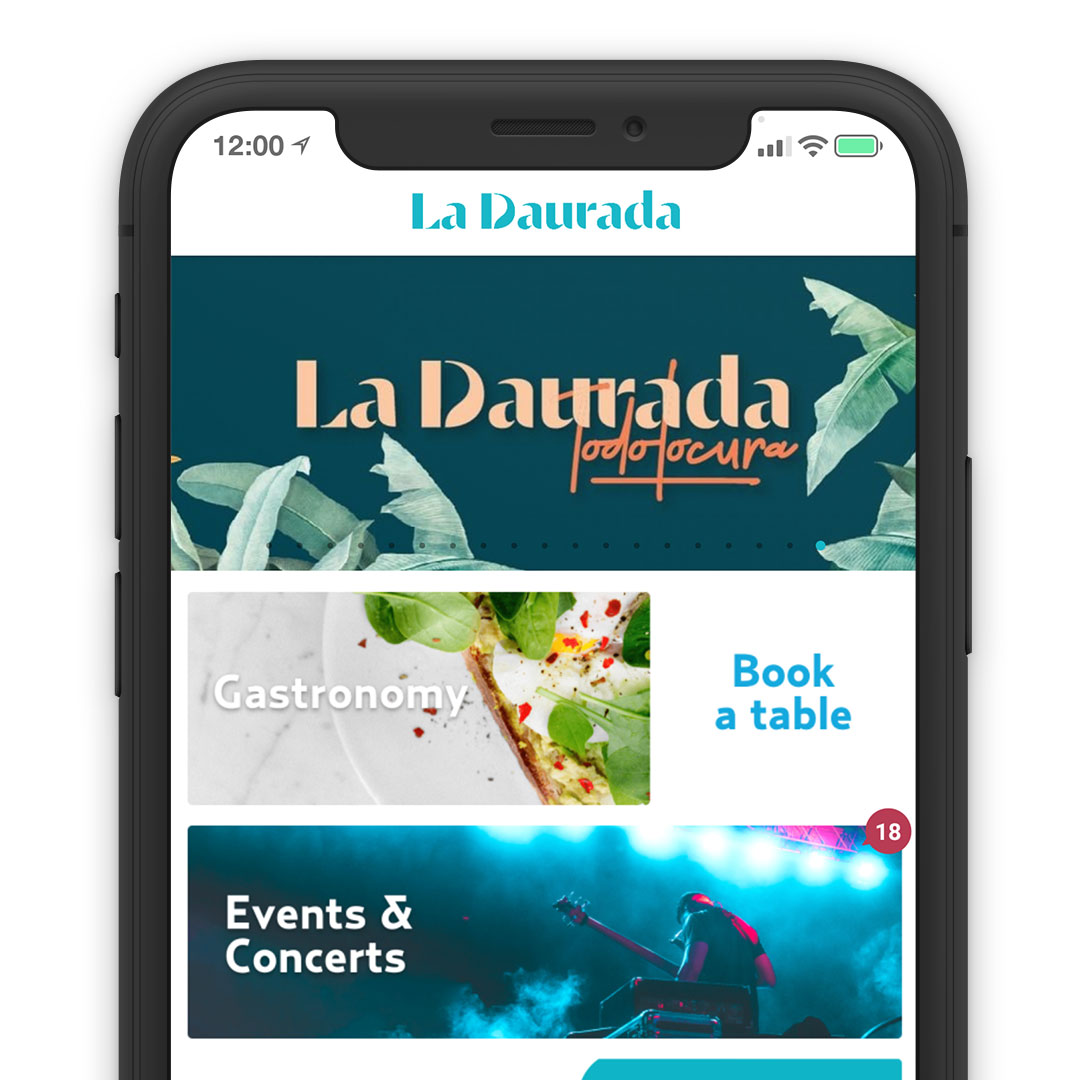 La Daurada Beach Club System Reservation Solution Mobile App Online Direct Booking Smartphone