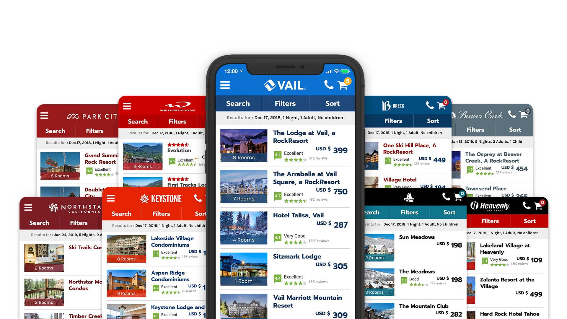 Vail Resorts Reservation Solution Mobile App Online Direct Booking System Case Study