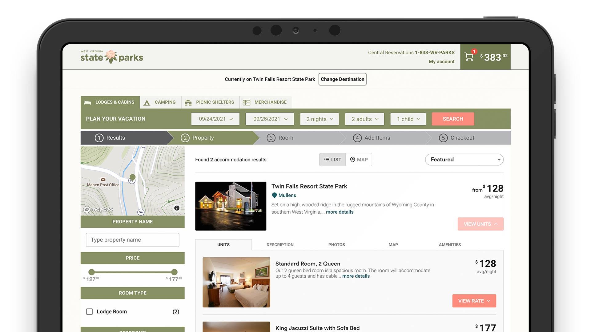 west-virginia-system-reservation-solution-mobile-app-online-direct-booking-laptop